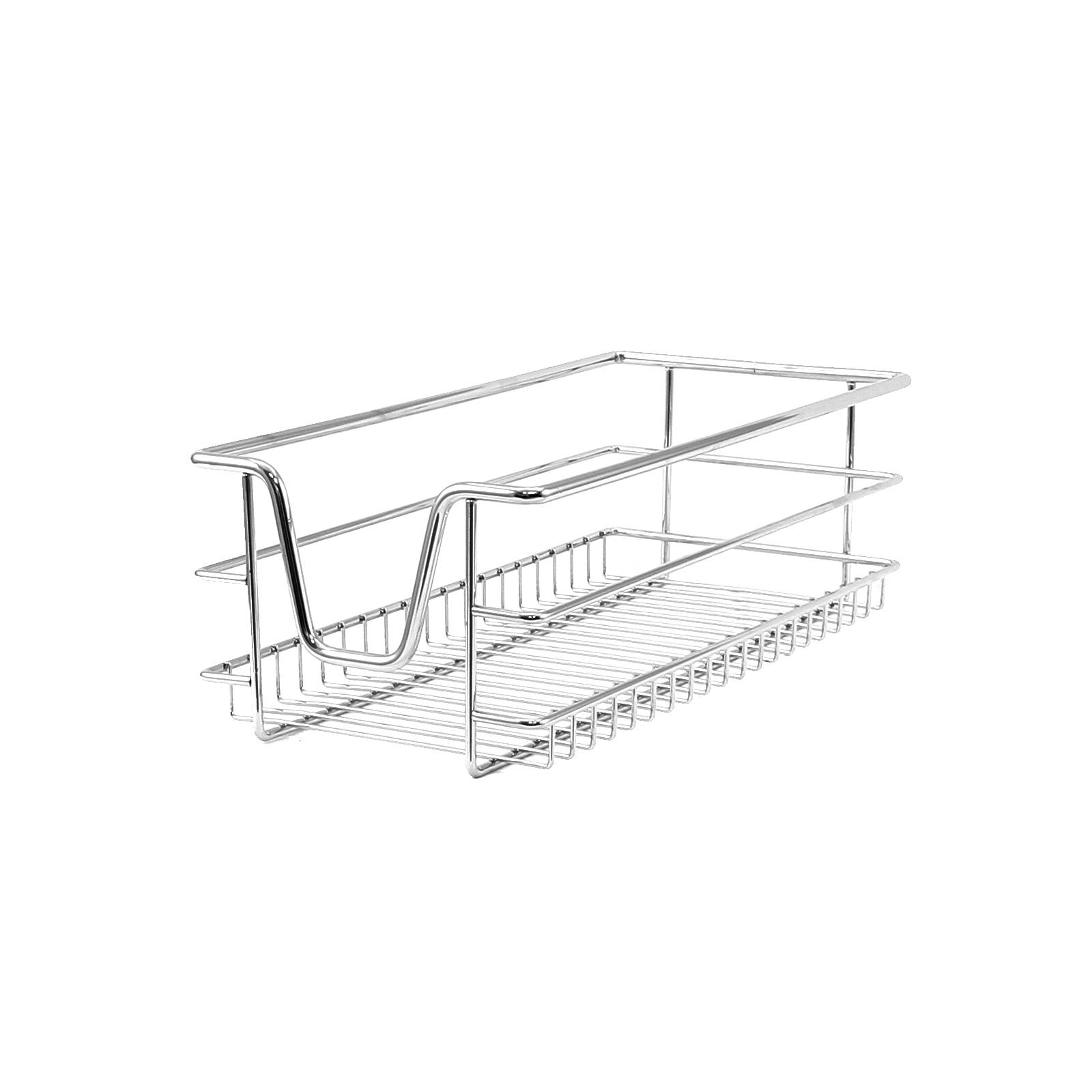 4 Kitchen Wire Baskets Pull Out Storage Drawer Slide Out