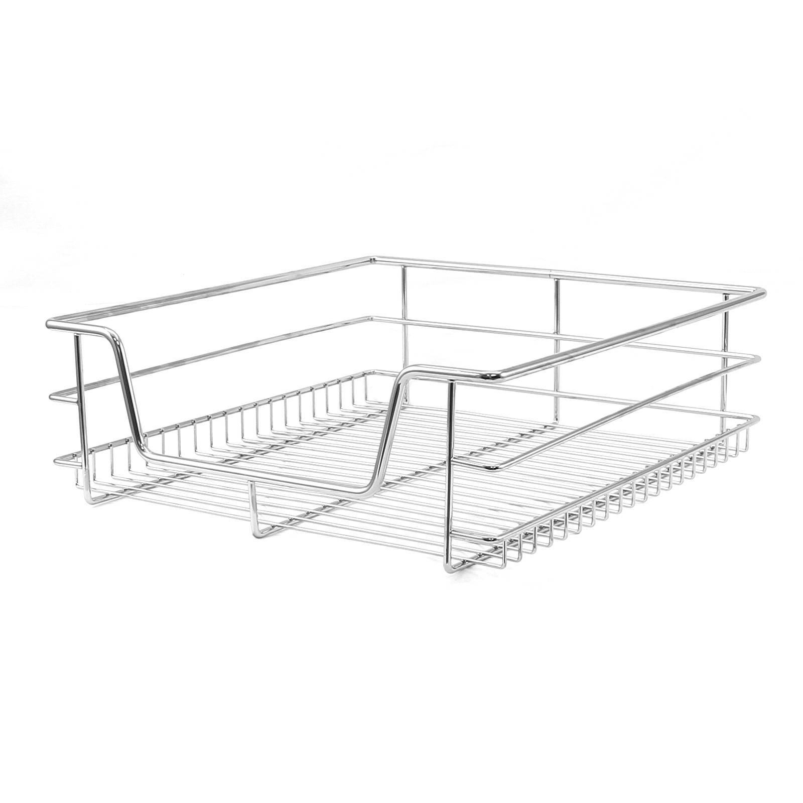 5 Pull Out Kitchen Storage Wire Baskets Drawer Slide Out Larder Cupboard 50cm