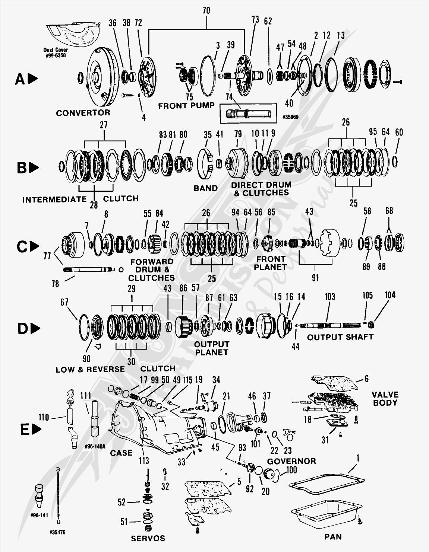 th350 transmission wiring diagram car wiring diagrams explained u2022 rh ethermag co TH350 Transmission Diagram Chevy 700R4 Transmission Rebuild Diagram