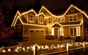 Holiday Lighting Installed in Belle Harbor, Queens by Monster Wash