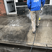 Sidewalk Cleaning in Queens, New York by Monster Wash