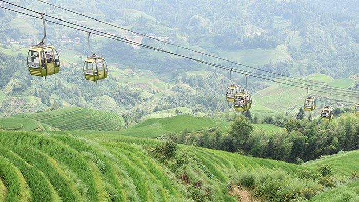 Cómo-visitar-arrozales-Longji-teleferico