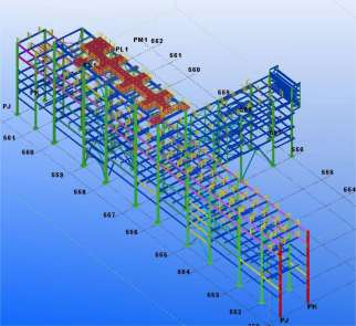 STRUCTURE MODELLED BY TEKLA SOFTWARE – Saipem Versalis commission (Ferrara)