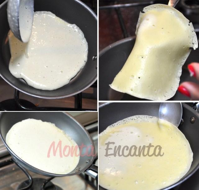 Receita de Panqueca, com massa temperada!