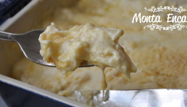 Canelone de queijo ao molho branco, prático sem fogão.