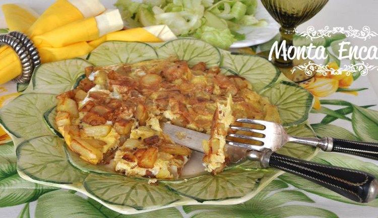 Receita Omelete de batatas, é delicioso!