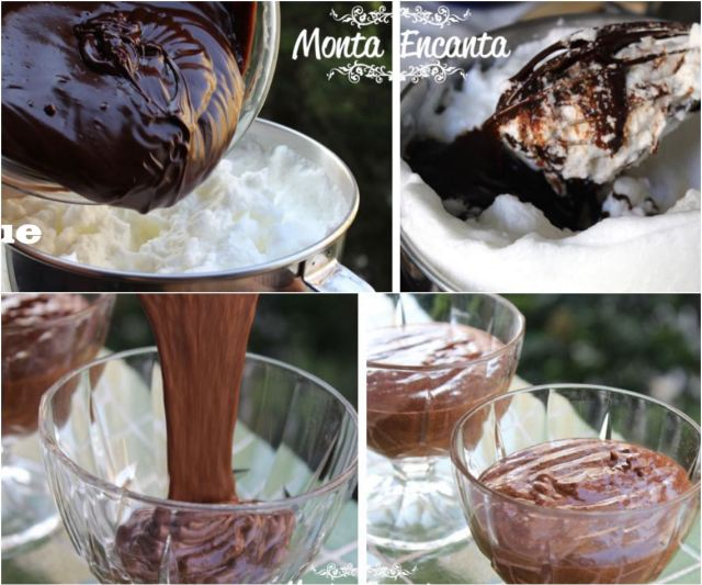 mousse de chocolate pasteurizado