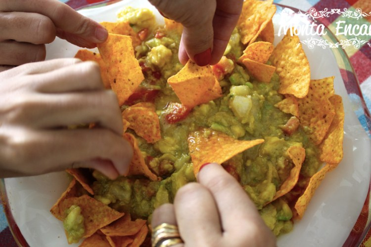 Guacamole com nachos crocantes!