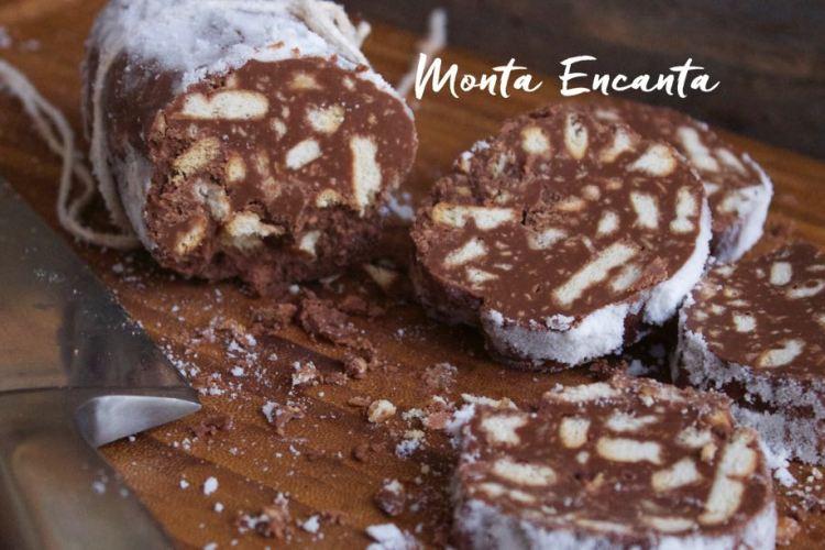 Salame de Chocolate ou Salame di Cioccolato!
