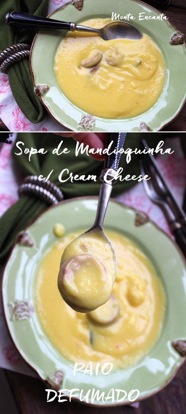 Sopa Creme de Mandioquinha com Cream Cheese
