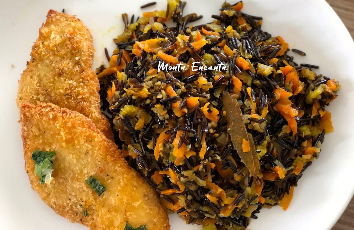 risoto de arroz selvagem
