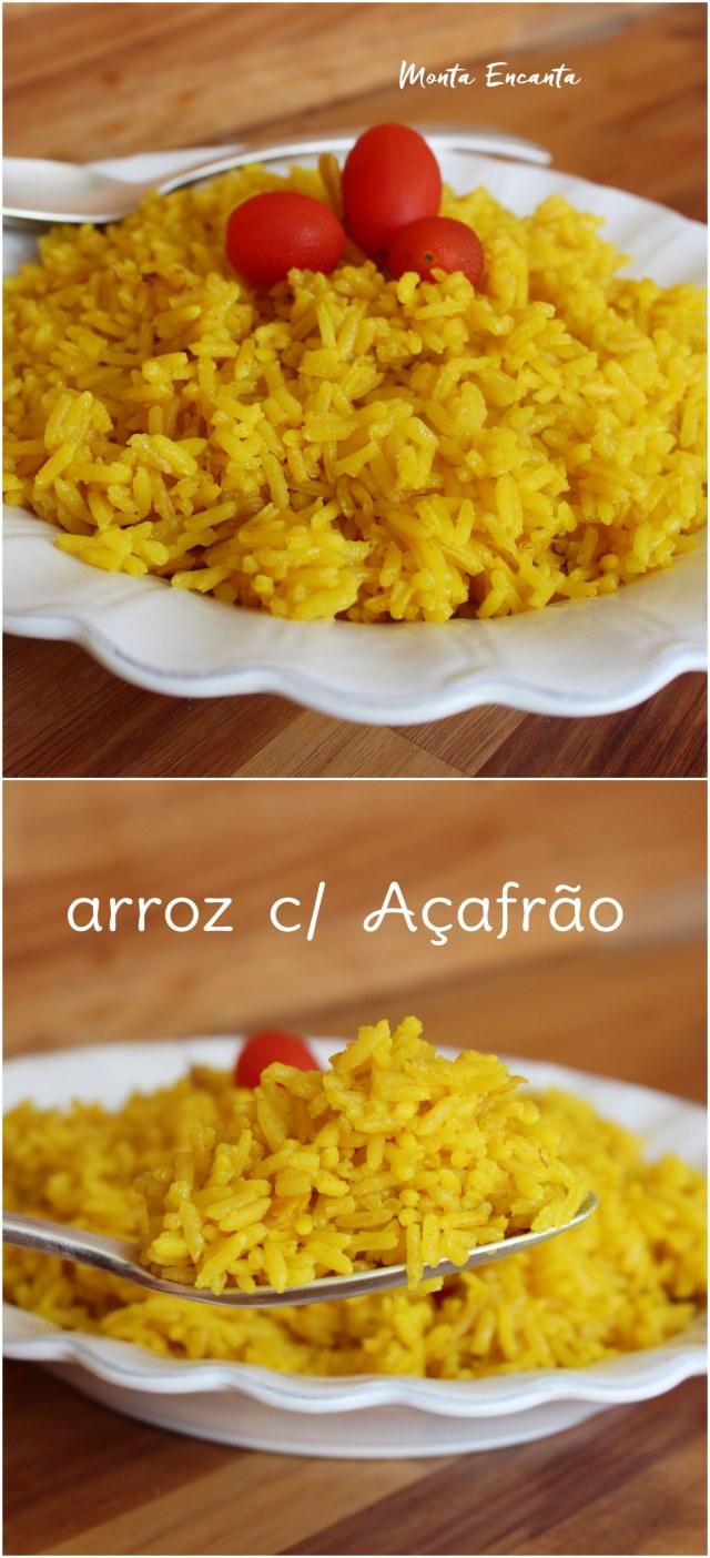 arroz com acafrao