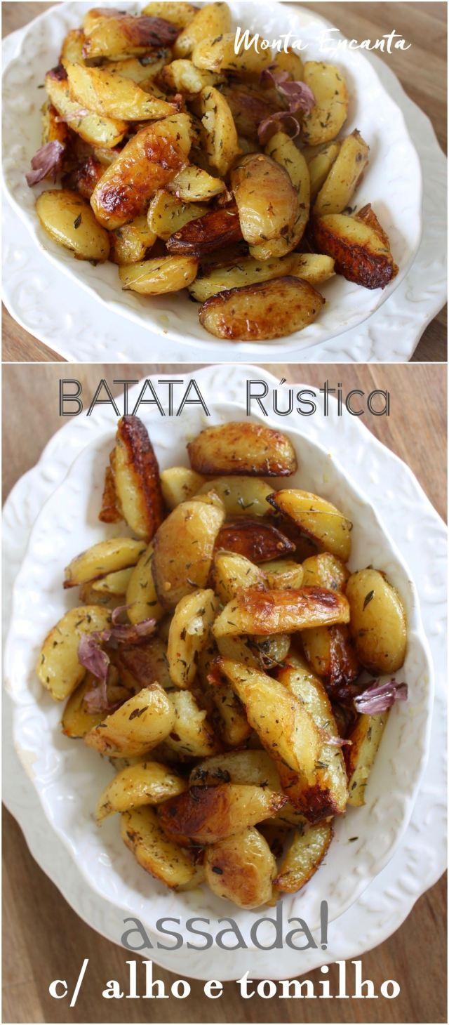 batata rustica assada no forno