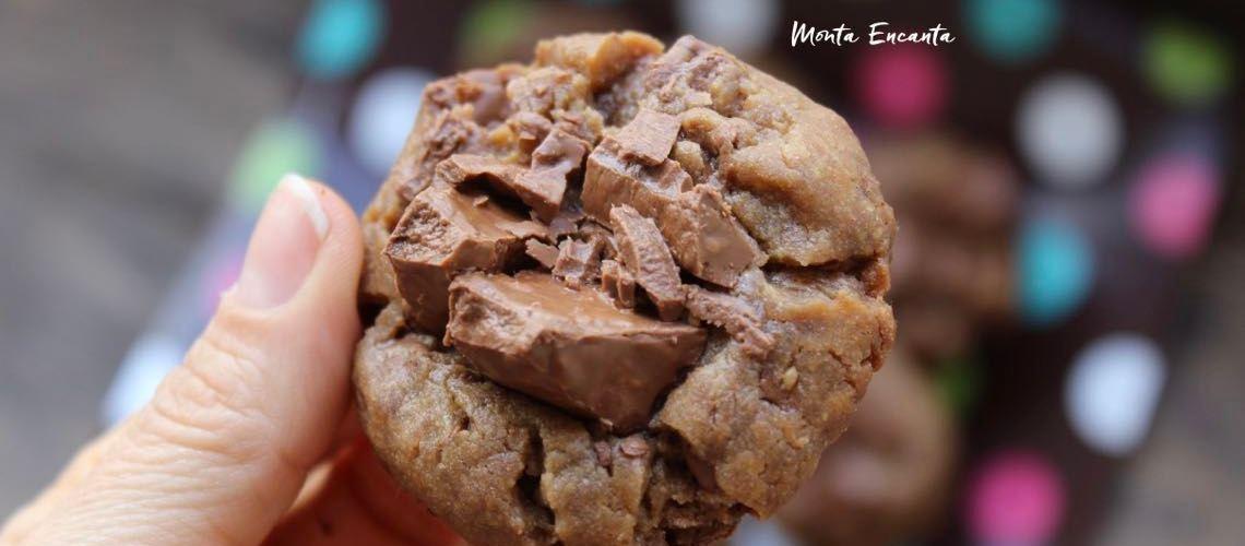 Cookie Amanteigado com Mascavo e  Chocolate  picado