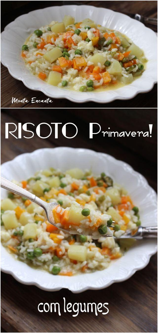 risoto primavera de legumes