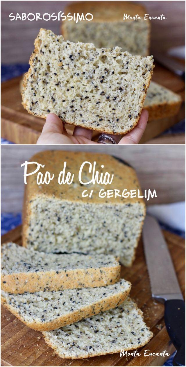 pão de chia com gergelim