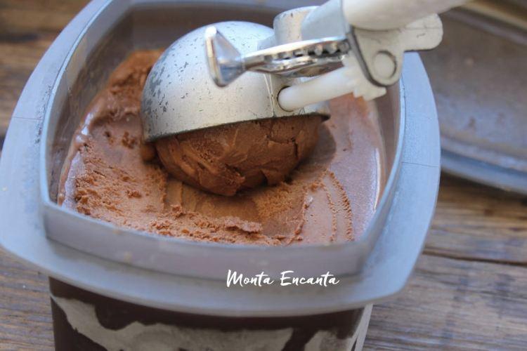 Sorvete de Chocolate com Café, a bola da vez!