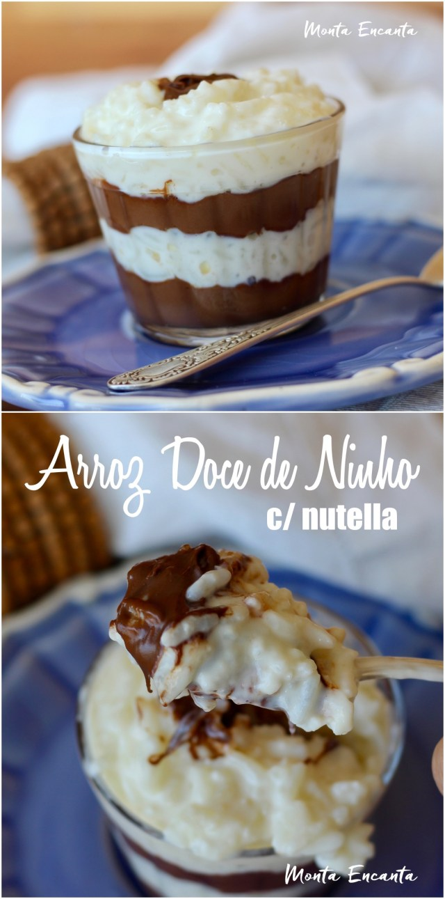 arroz doce com nutella