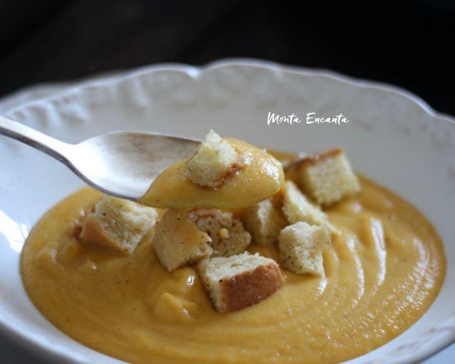 sopa creme de batata com cenoura