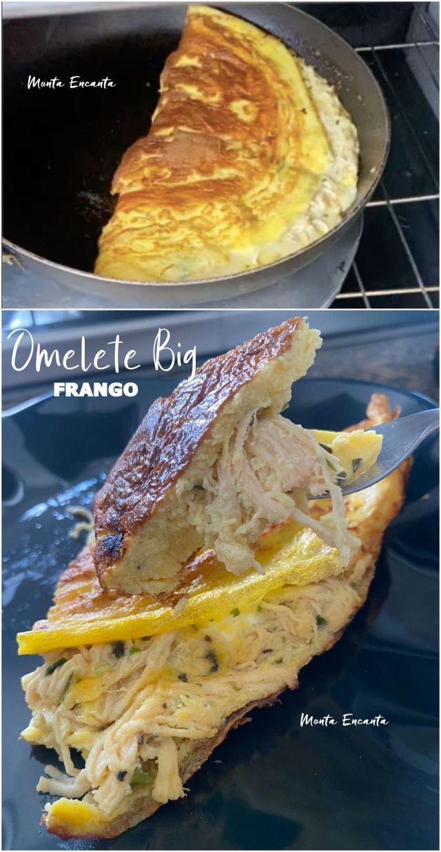 omelete de frango com cream cheese BIG
