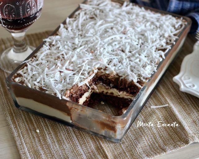 Bolo belga de prestigio, é o melhor bolo de coco gelado da vida, pode acreditar!