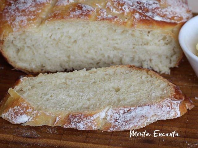 pão de dez dobras sem sova, pão de panela com tampa