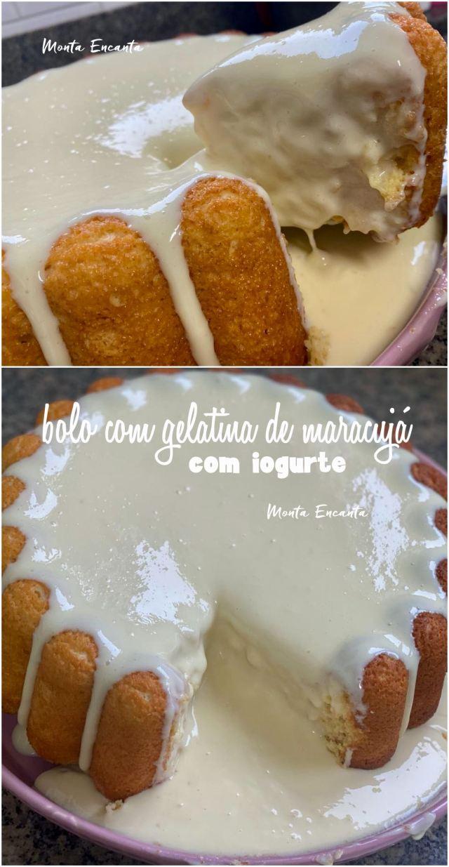 bolo com gelatina