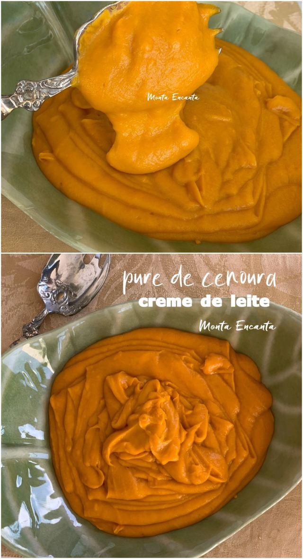 purê de cenoura com creme de leite
