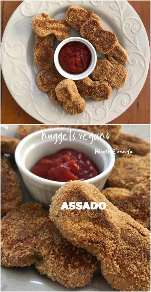nuggets vegano assado