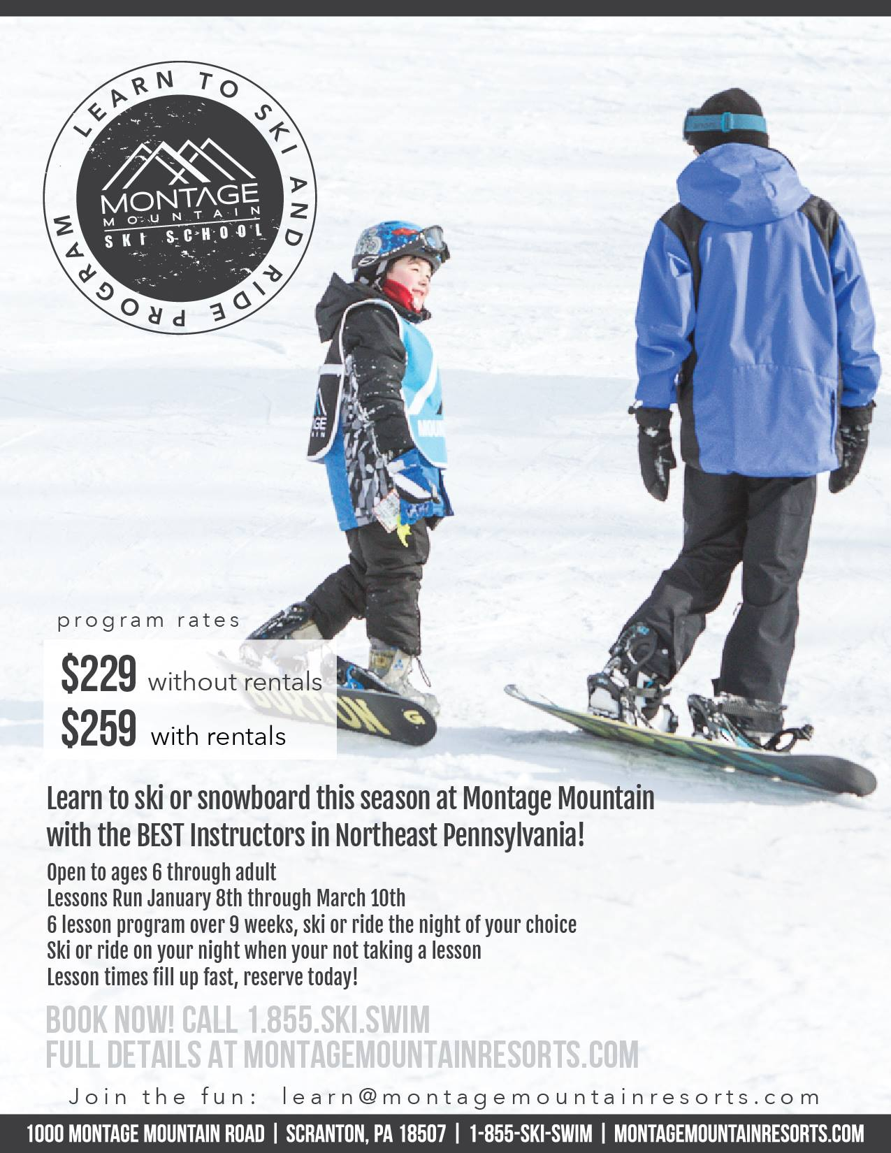 SKI SNOWBOARD LESSONS LEARN TO SKI