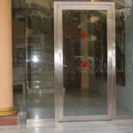 puerta de acero inox