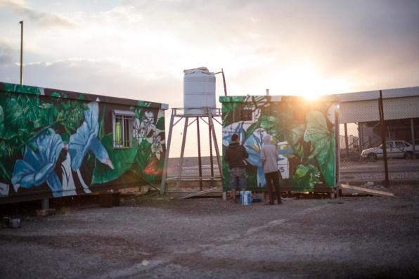 Oasis Paint Fintan Magee Suhaib Attar Azraq Refugee Camp