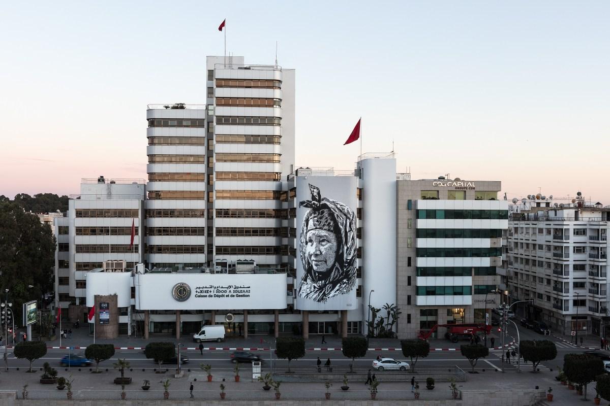 Najma Mural Hendrik Beikirch Rabat Morocco
