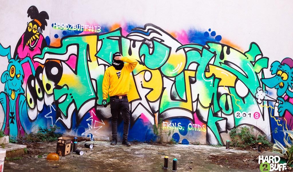 HARD2BUFF #13 featuring graffiti writer ANSYAR