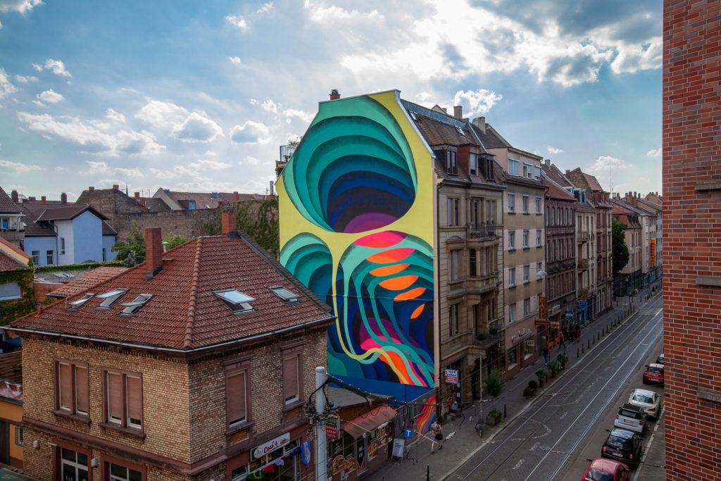 1010 Mural Stadt.Wand.Kunst Mannheim