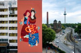 Frau ISA Mural for Stadt.Wand.Kunst in Mannheim