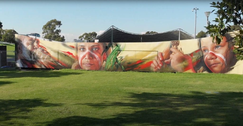 ADNATE mural at Sidney Myer Music Bowl