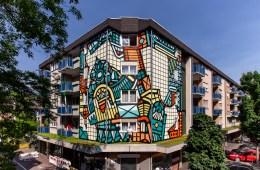 ISAKOV mural for STADT WAND KUNST in Mannheim