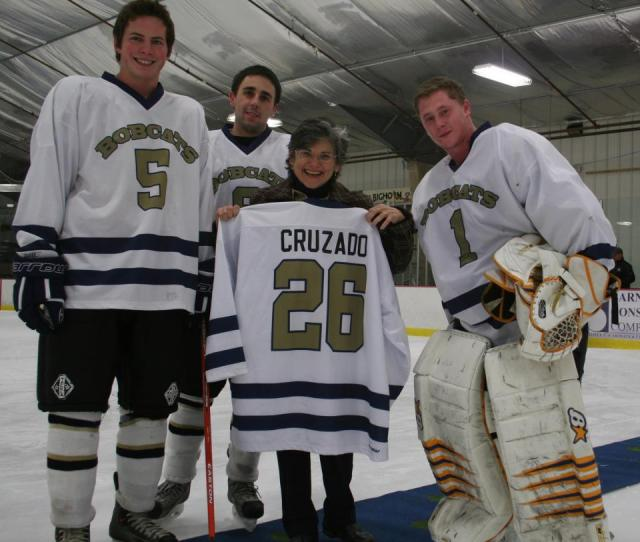 Hockey Club Members With President Cruzado