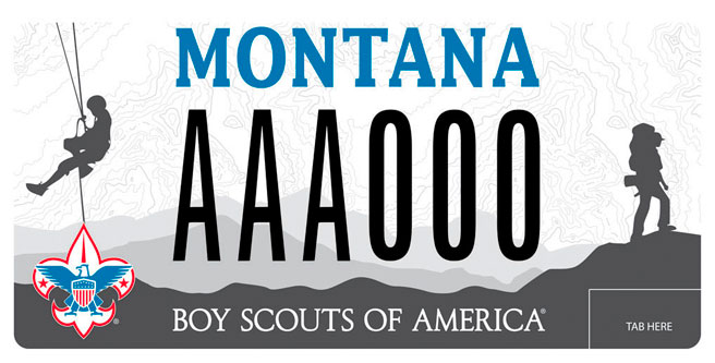 License Plate Boy Scouts Montana Council