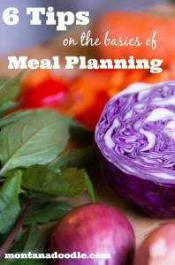 Make meal planning easier with these 6 tips on the basics of meal planning!