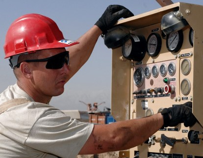 man operating