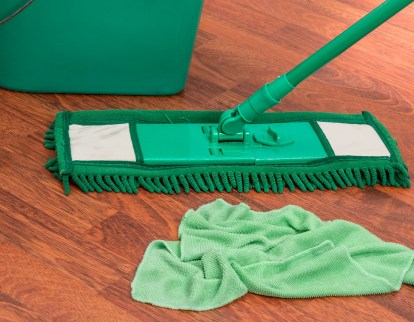 Green floor mop