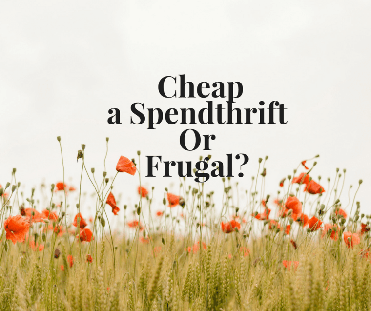 difference between cheap, frugal and spendthrifts
