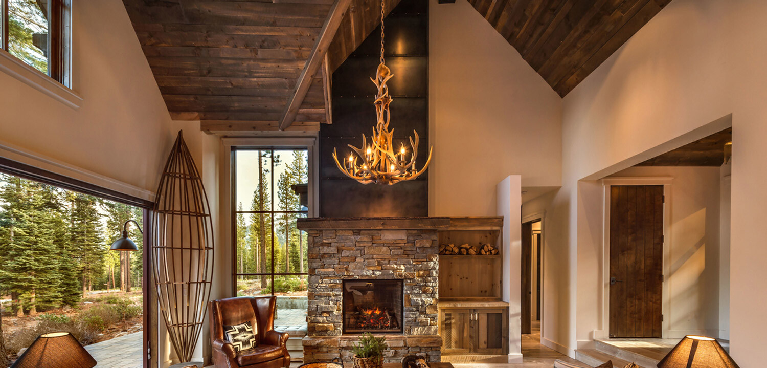 Interior rustic wood cladding paneling wainscoting ceiling Interiors