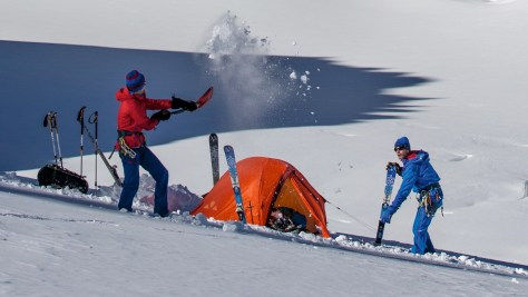 The tent and the sleeping bag are two determining elements in cold conditions. Photo credit: Vaude.