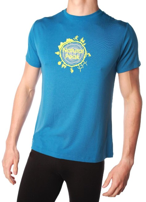 Tee-shirt homme NATURAL PEAK 210 AROUND THE WORLD couleur bleu