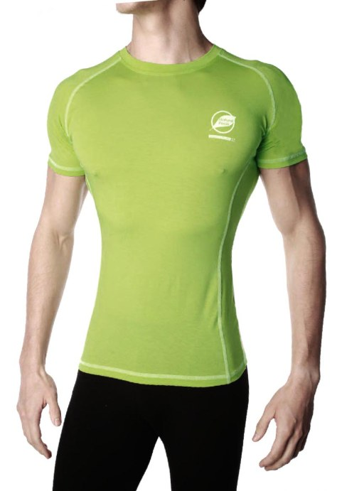 Tee-shirt homme NATURAL PEAK 140 CHARVIN couleur vert-lime