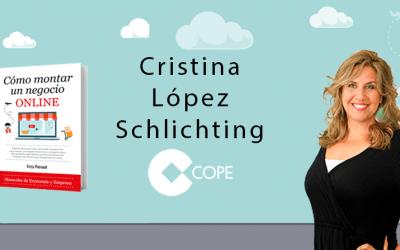 Cómo Montar Un Negocio Online en el programa «Fin de Semana» de Cristina López (COPE)