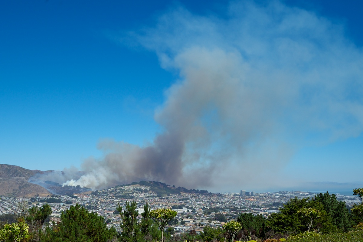 San Bruno Mountain Fire 1